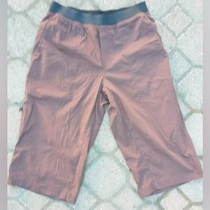 prana long shorts pullon cargo workout contrast